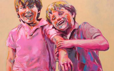 Opdracht - portret van 2 broertjes